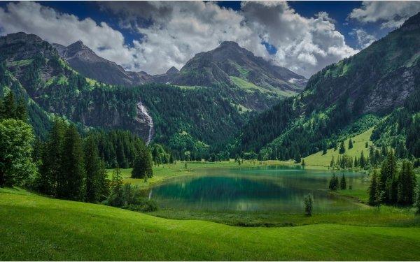 Earth Mountain Mountains Lake Switzerland HD Wallpaper | Background Image