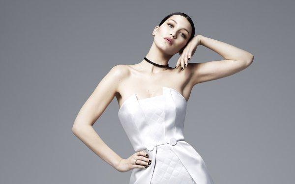 Celebrity Bella Hadid Models United States Model Dress Brunette HD Wallpaper   Background Image