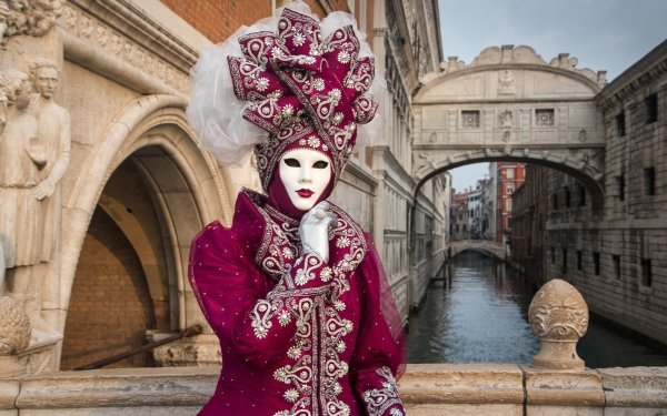 Photography Carnival of Venice Italy Costume Venice Carnival Bridge Of Sighs HD Wallpaper | Background Image