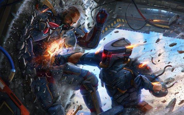 Sci Fi Warrior HD Wallpaper | Background Image