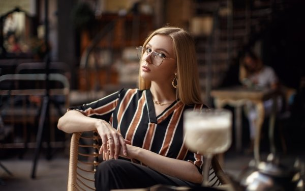 Women Model Models Glasses Blonde Depth Of Field HD Wallpaper | Background Image