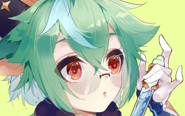 Videospel Genshin Impact Sucrose HD Wallpaper   Achtergrond