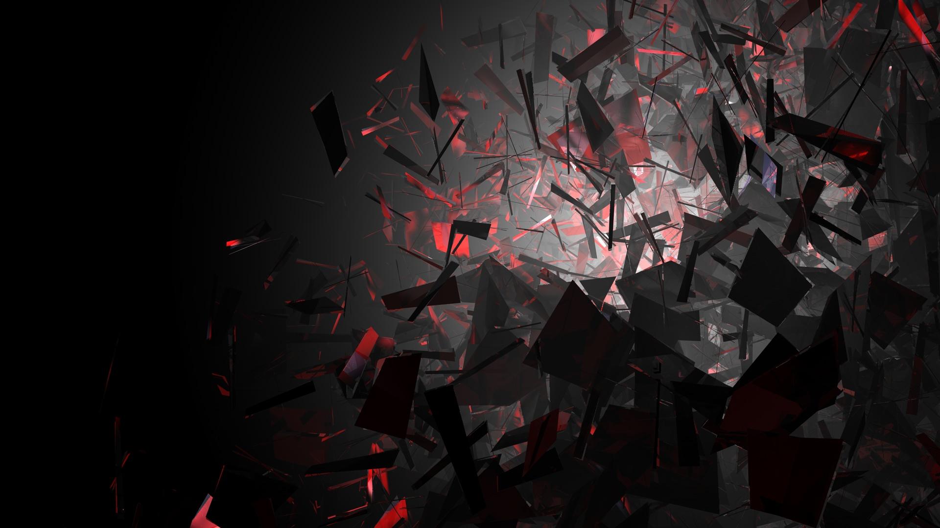 Abstrakt - Dunkel  Rot Abstrakt Art Wallpaper