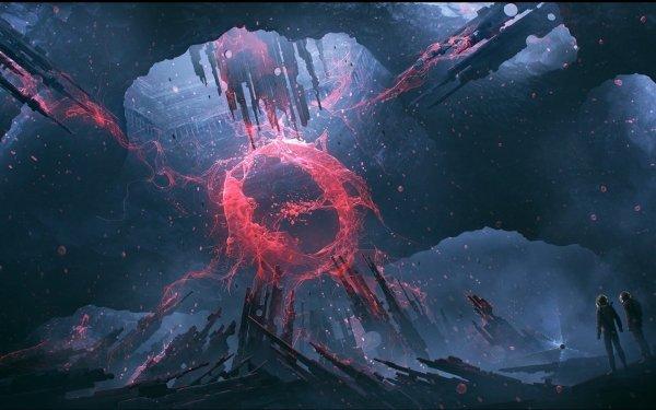 Sci Fi Portal Astronaut HD Wallpaper | Background Image