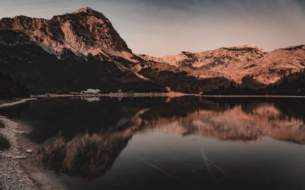 Earth Lake Lakes Sunset Montenegro HD Wallpaper | Background Image