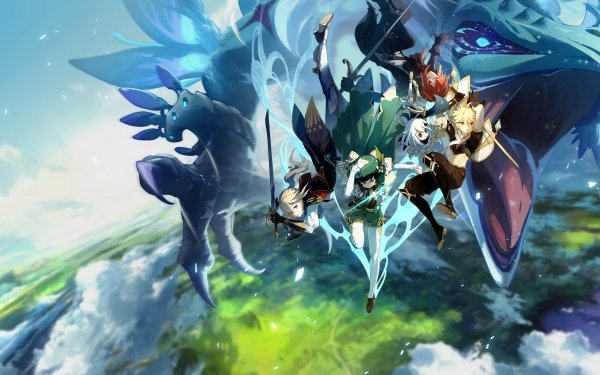 Video Game Genshin Impact Venti Diluc Paimon Aether Jean HD Wallpaper | Background Image