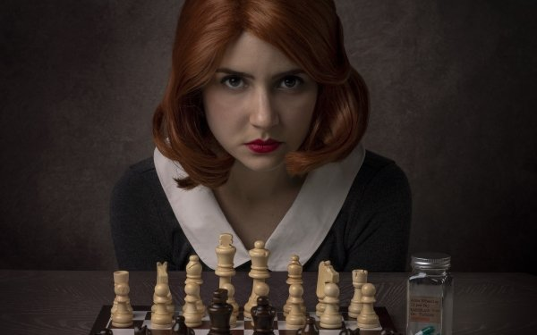 Women Cosplay Redhead Face Chess Lipstick The Queen's Gambit HD Wallpaper | Background Image