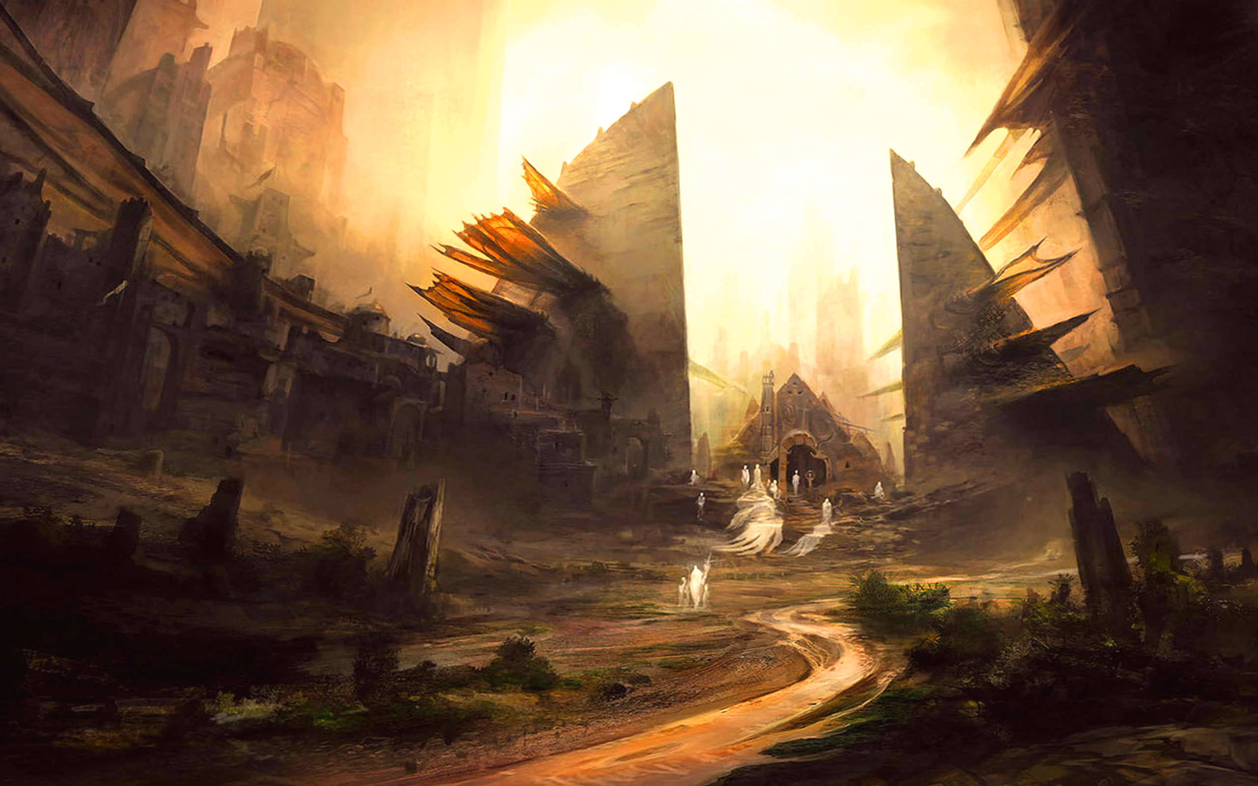 Sombre - Ville  - Fantôme - Ccx Fond d'écran