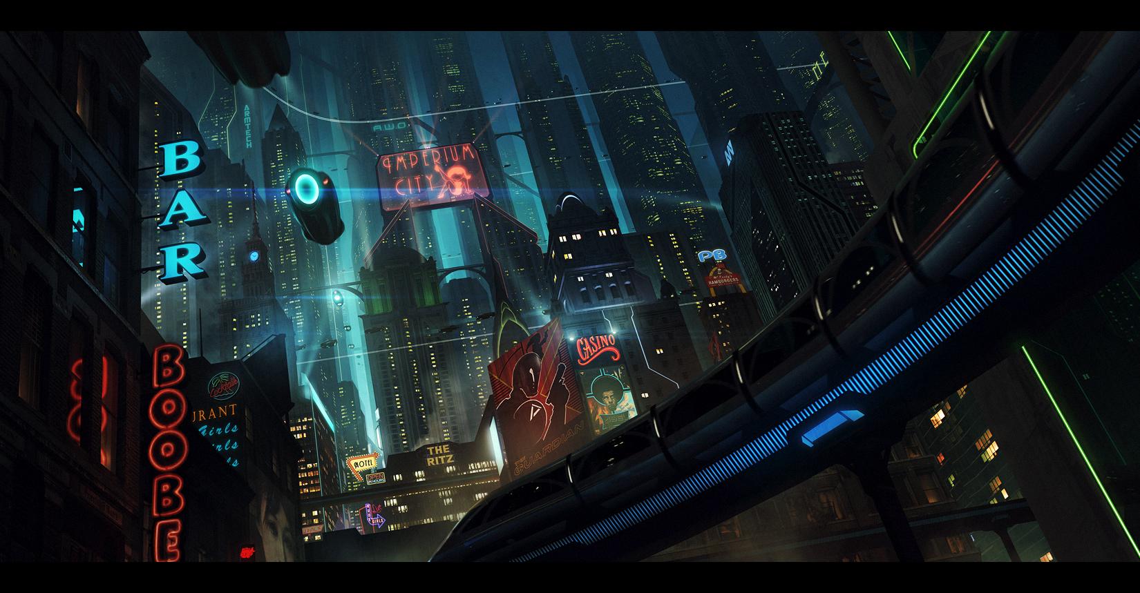 cyberpunk city hd wallpapers - photo #37
