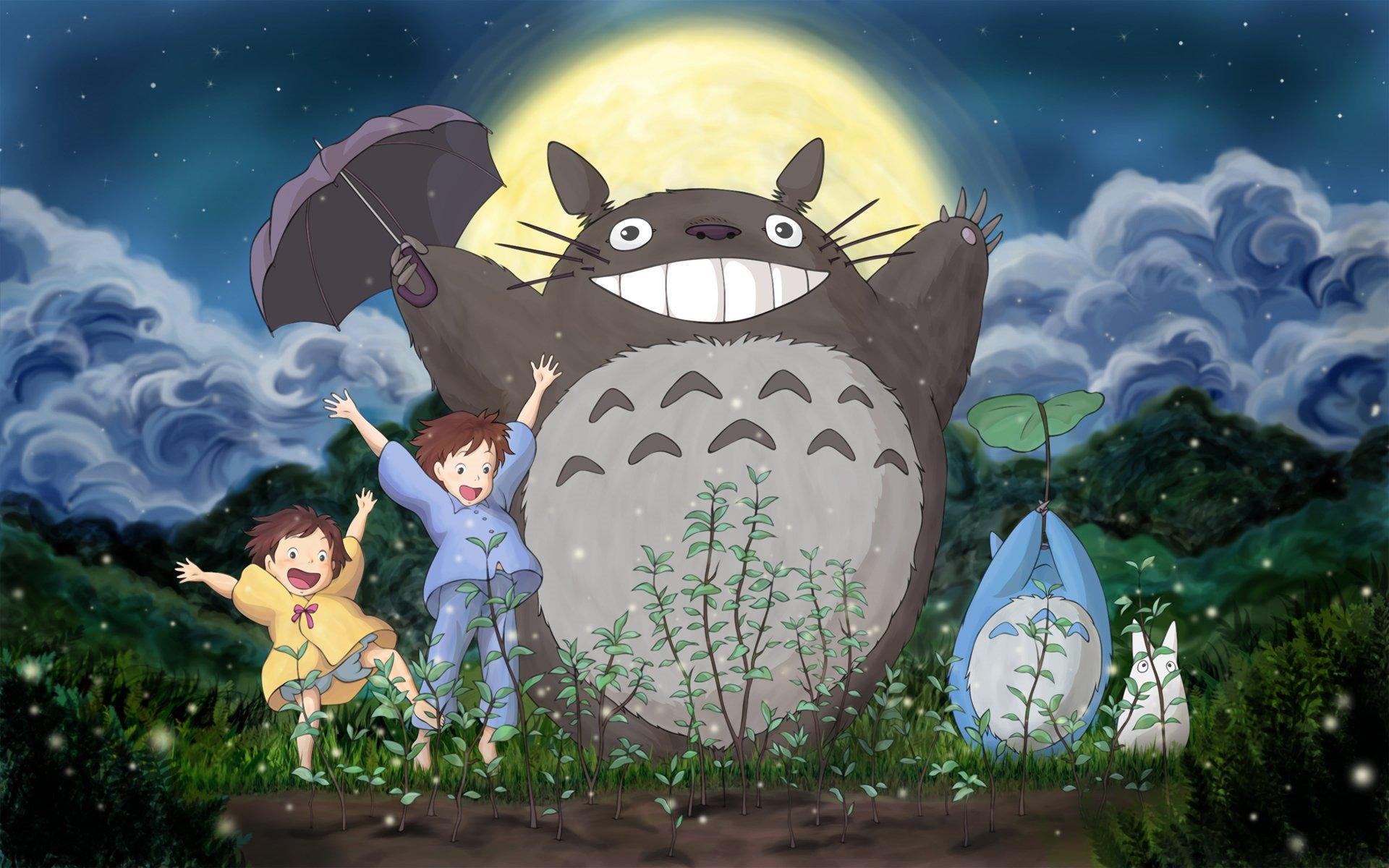 Movie - My Neighbor Totoro  Totoro (My Neighbor Totoro) Mini Totoro (My Neighbor Totoro) Mei Kusakabe Satsuki Kusakabe Wallpaper