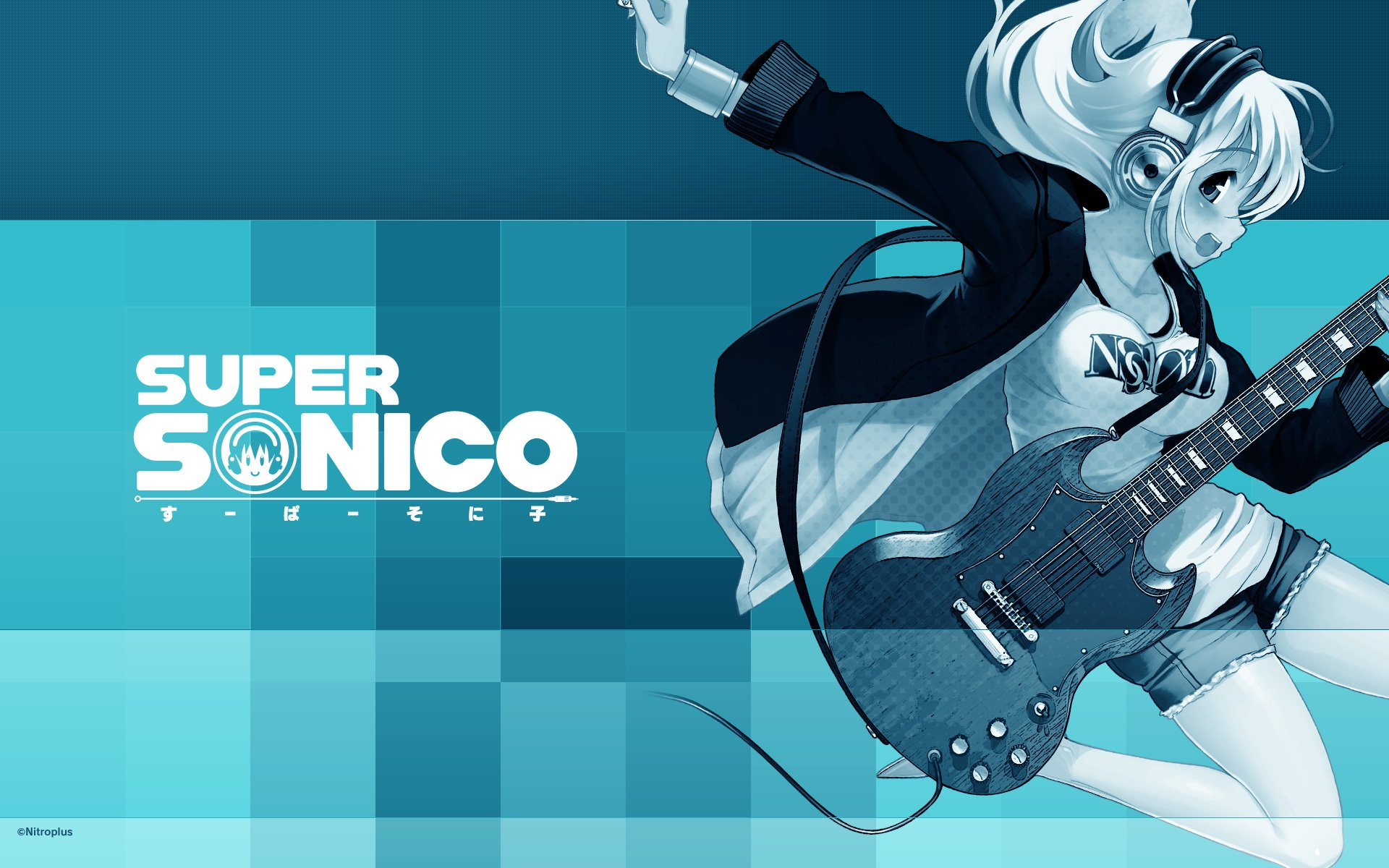 Anime - Super Sonico  Headphones Music Wallpaper