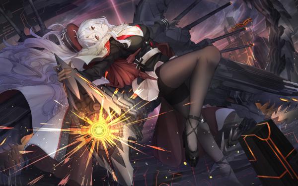 Anime Azur Lane Graf Zeppelin HD Wallpaper | Background Image