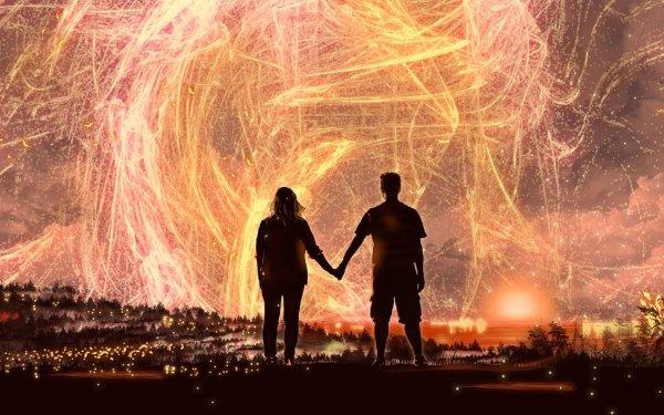 Artistic Romantic Couple Night HD Wallpaper | Background Image