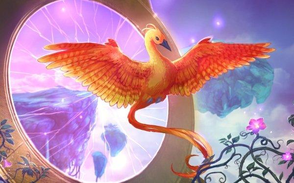 Video Game Mythic Wonders: The Philosopher's Stone Phoenix Bird Fantasy HD Wallpaper   Background Image