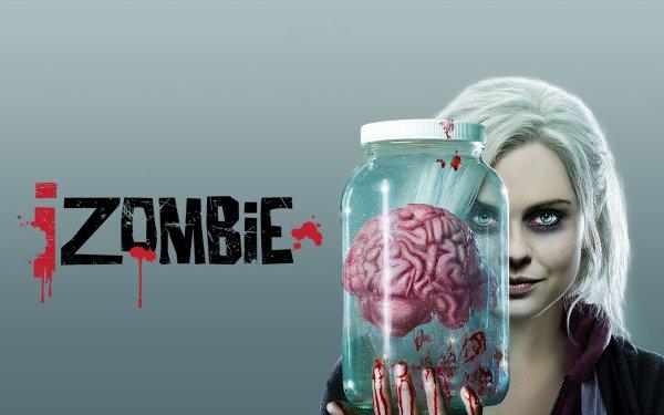 TV Show iZombie Liv Moore Brain Jar White Hair Rose McIver Green Eyes Zombie HD Wallpaper   Background Image