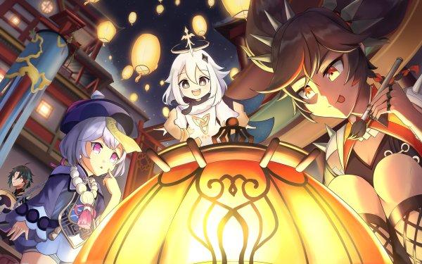 Video Game Genshin Impact Paimon Xiao Xinyan Qiqi HD Wallpaper   Background Image