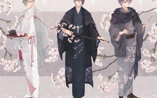 Anime Touken Ranbu Kasen Kanesada Mikazuki Munechika Uguisumaru HD Wallpaper   Background Image