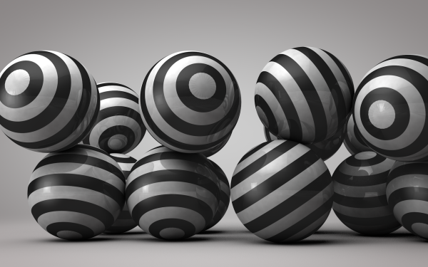 Abstract Ball 3D Black CGI Sphere HD Wallpaper | Background Image