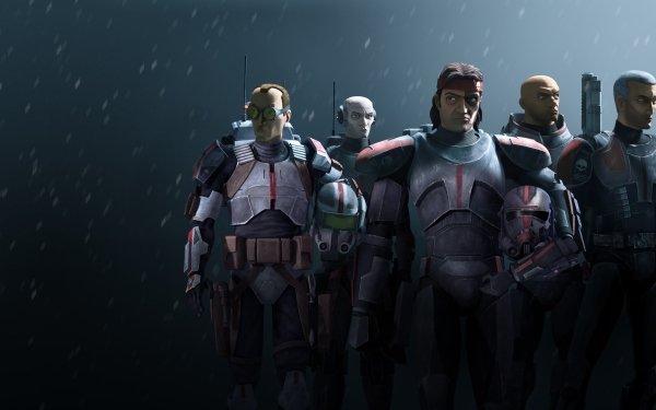 TV Show Star Wars: The Bad Batch Hunter Echo Wrecker Crosshair Tech HD Wallpaper | Background Image