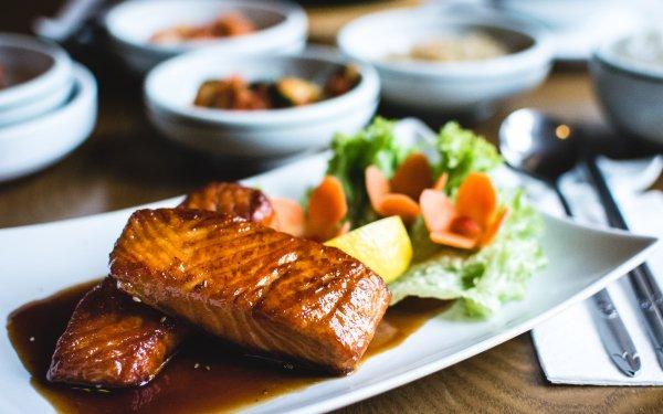 Alimento Marisco Salmon Sauce Fondo de pantalla HD | Fondo de Escritorio