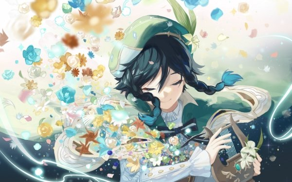 Video Game Genshin Impact Venti HD Wallpaper | Background Image