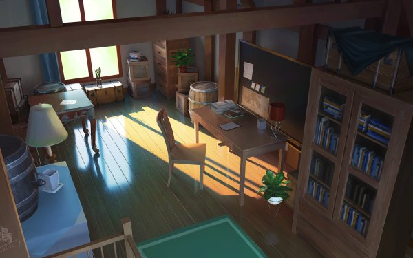 Anime Room Chair HD Wallpaper | Background Image