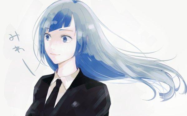 Anime Jujutsu Kaisen Kasumi Miwa Blue Hair Blue Eyes Long Hair HD Wallpaper | Background Image