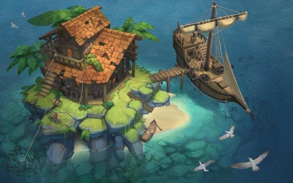 Fantaisie Island Fond d'écran HD | Arrière-Plan
