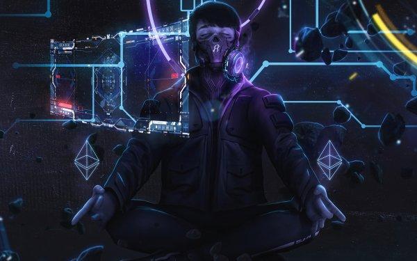 Sci Fi Men Man Futuristic Gas Mask HD Wallpaper | Background Image