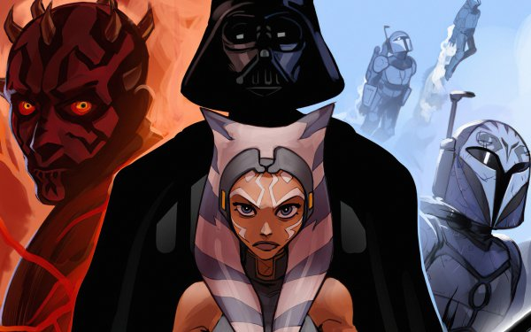 TV Show Star Wars: The Clone Wars Star Wars Darth Vader Ahsoka Tano Darth Maul HD Wallpaper | Background Image