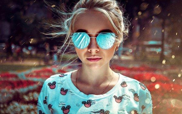 Mujeres Modelo Modelos Woman Sunglasses Depth Of Field Fondo de pantalla HD | Fondo de Escritorio