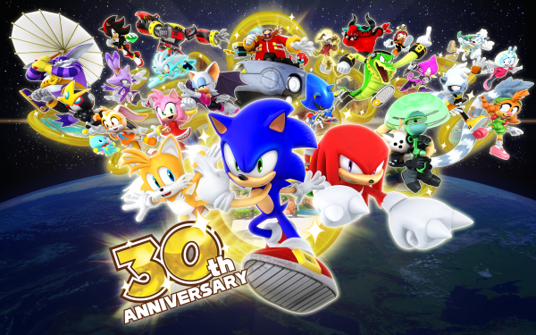 """Video Game Sonic the Hedgehog Sonic Miles """"Tails"""" Prower Amy Rose Shadow the Hedgehog Knuckles the Echidna Big the Cat Cream the Rabbit Tangle the Lemur Vector the Crocodile Silver the Hedgehog Zavok Doctor Eggman Whisper the Wolf Dr Starline Blaze the Cat Metal Sonic Cheese the Chao Espio the Chameleon Charmy Bee Rouge the Bat E-123 Omega Belle the Tinkerer HD Wallpaper 