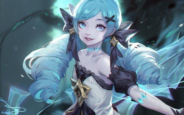 Video Game League Of Legends Gwen Girl Blue Hair Blue Eyes HD Wallpaper | Background Image