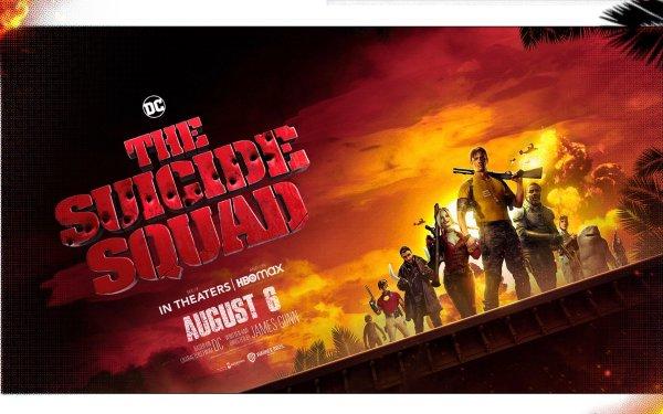 Movie The Suicide Squad King Shark Rick Flag Harley Quinn Captain Boomerang Bloodsport Polka-Dot Man HD Wallpaper | Background Image