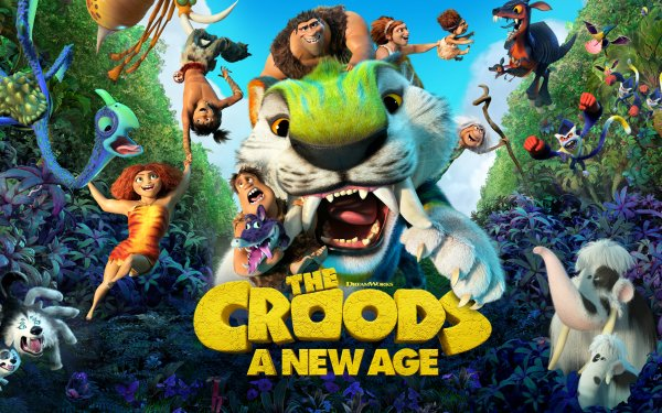 Movie The Croods: A New Age Eep Guy Thunk Grug Sandy Ugga Gran HD Wallpaper | Background Image
