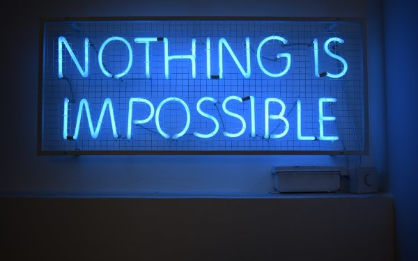 Artistic Neon Neon Sign Blue Motivational HD Wallpaper | Background Image