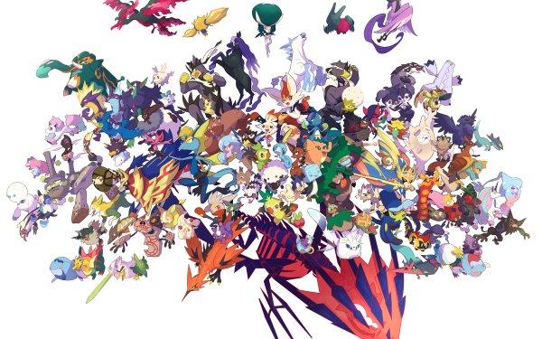 Video Game Pokémon Scorbunny Raboot Cinderace Sobble Grookey Yamper Sirfetch'd Inteleon Dracovish Zarude Alcremie Corviknight Zamazenta Zacian Galarian Meowth Drizzile HD Wallpaper | Background Image