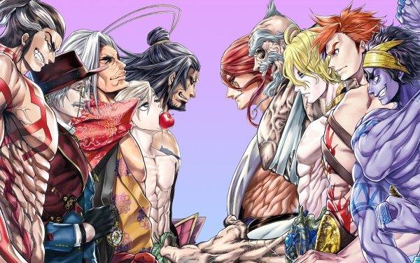 Anime Record of Ragnarok Lu Bu Adam Kojiro Sasaki Jack the Ripper Raiden Thor Zeus Poseidon Hercules Shiva HD Wallpaper | Background Image