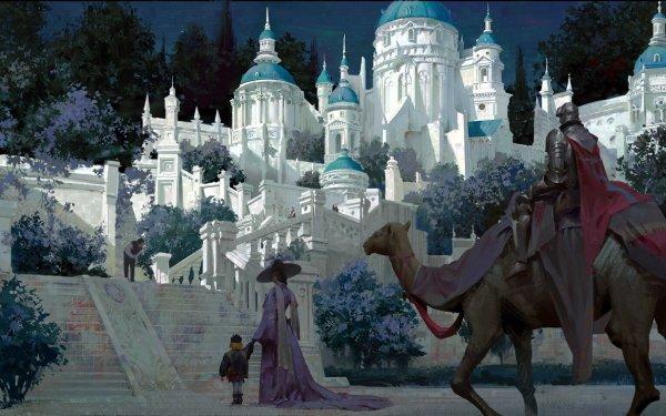 Fantasy Castle Castles HD Wallpaper | Background Image