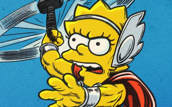Movie The Good, The Bart, and The Loki Lisa Simpson Thor HD Wallpaper | Background Image