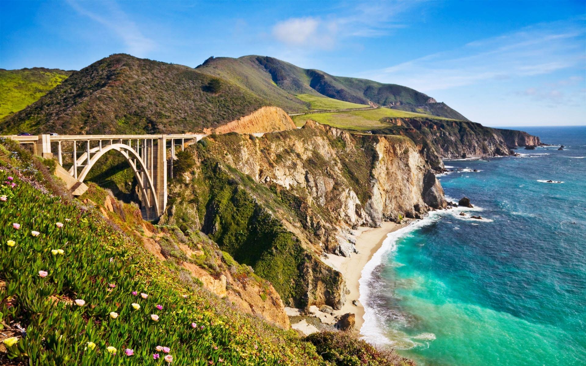 Menschen Erschaffen - Brücke  California Wallpaper