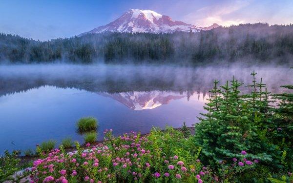 Earth Mount Rainier Mountains Cascade Range HD Wallpaper | Background Image