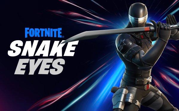 Video Game Fortnite Snake Eyes HD Wallpaper | Background Image