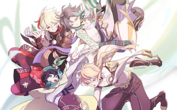 Video Game Genshin Impact Aether Kaedehara Kazuha Venti Xiao HD Wallpaper | Background Image