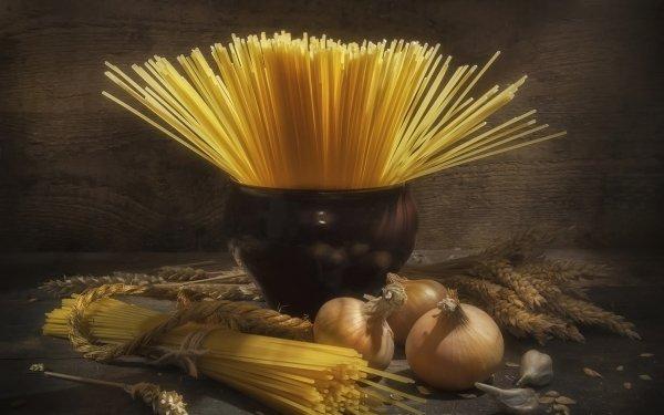 Food Pasta Still Life Onion Spaghetti HD Wallpaper   Background Image