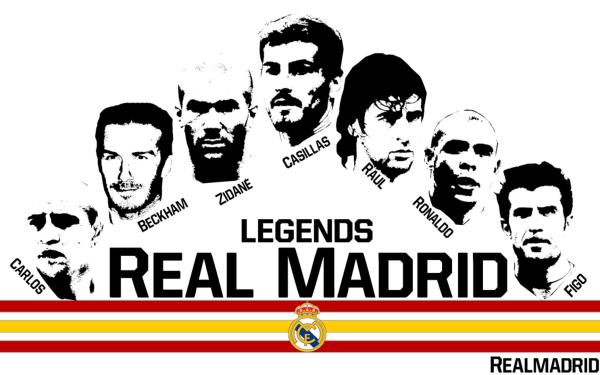 Sports Real Madrid C.F. Soccer Club Raúl González Blanco Iker Casillas Ronaldo Nazário Zinedine Zidane David Beckham HD Wallpaper | Background Image