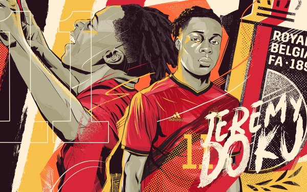 Sports Jérémy Doku Belgium National Football Team HD Wallpaper | Background Image