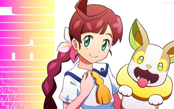 Anime Pokémon Chloe Yamper Fondo de pantalla HD | Fondo de Escritorio