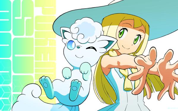 Anime Pokémon Lillie Alolan vulpix Fondo de pantalla HD | Fondo de Escritorio