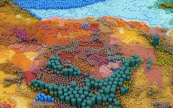 Artistic 3D Art Hexagon HD Wallpaper | Background Image